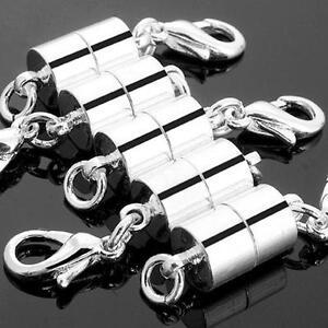 Verschluss-Kettenverschluss-Magnet-7mm-Versilbert-TOP-Schmuckteile-Verbinder-5X