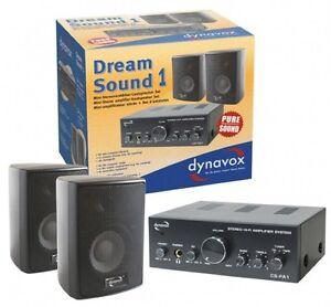 verst rker mit boxen lautsprecher verst rker set dynavox dream sound schwarz ebay