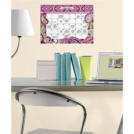 Very Berry Monthly Dry Erase Calendar Removable Wall Decal