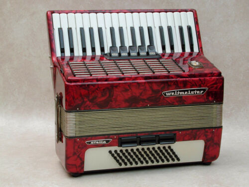 Very Nice Accordion Weltmeister Stella 60 bass in Musical Instruments & Gear, Accordion & Concertina | eBay
