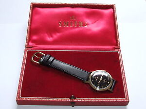 Very-RARE-SOLID-9CT-GOLD-1961-Smiths-Imperial-Gents-Wristwatch-BOXED