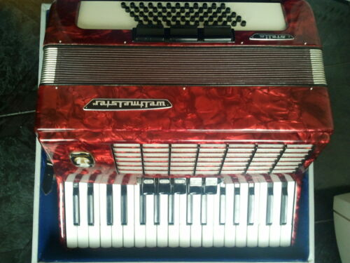 Very nice German Piano Accordion Weltmeister Stella 60 bass with case. Exc sound in Musical Instruments & Gear, Accordion & Concertina | eBay