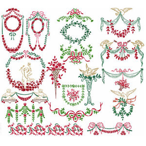 Victorian decor machine embroidery designs set 5x7 hoop ebay for Embroidery office design 7 5 full