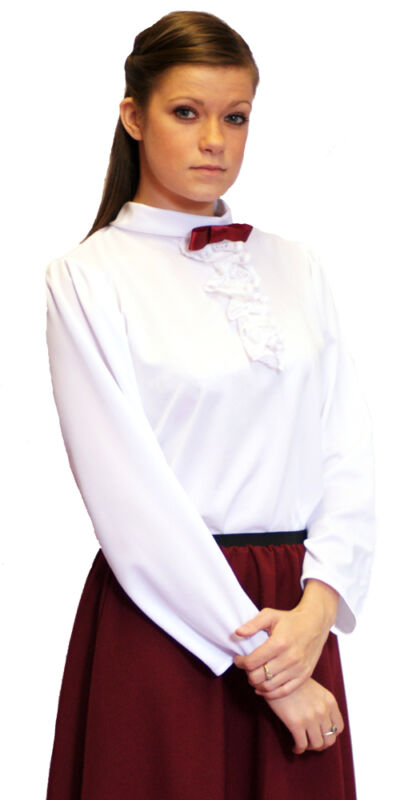 Victorian  Edwardian Fashion on Victorian Edwardian Steampunk White Blouse All Sizes   Ebay