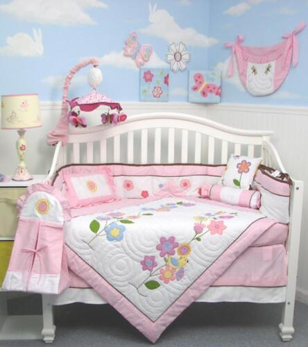 Victorian Flower Tree Baby Crib Nursery Bedding 13 pcs Set With Diaper Bag in Baby, Nursery Bedding, Crib Bedding | eBay