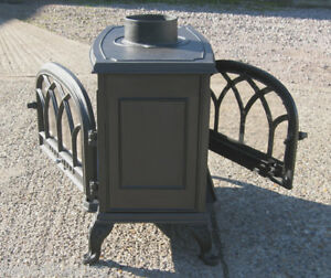Two Sided Cast Iron Stove Stoves Log Dual Aspect Double Fronted | eBay