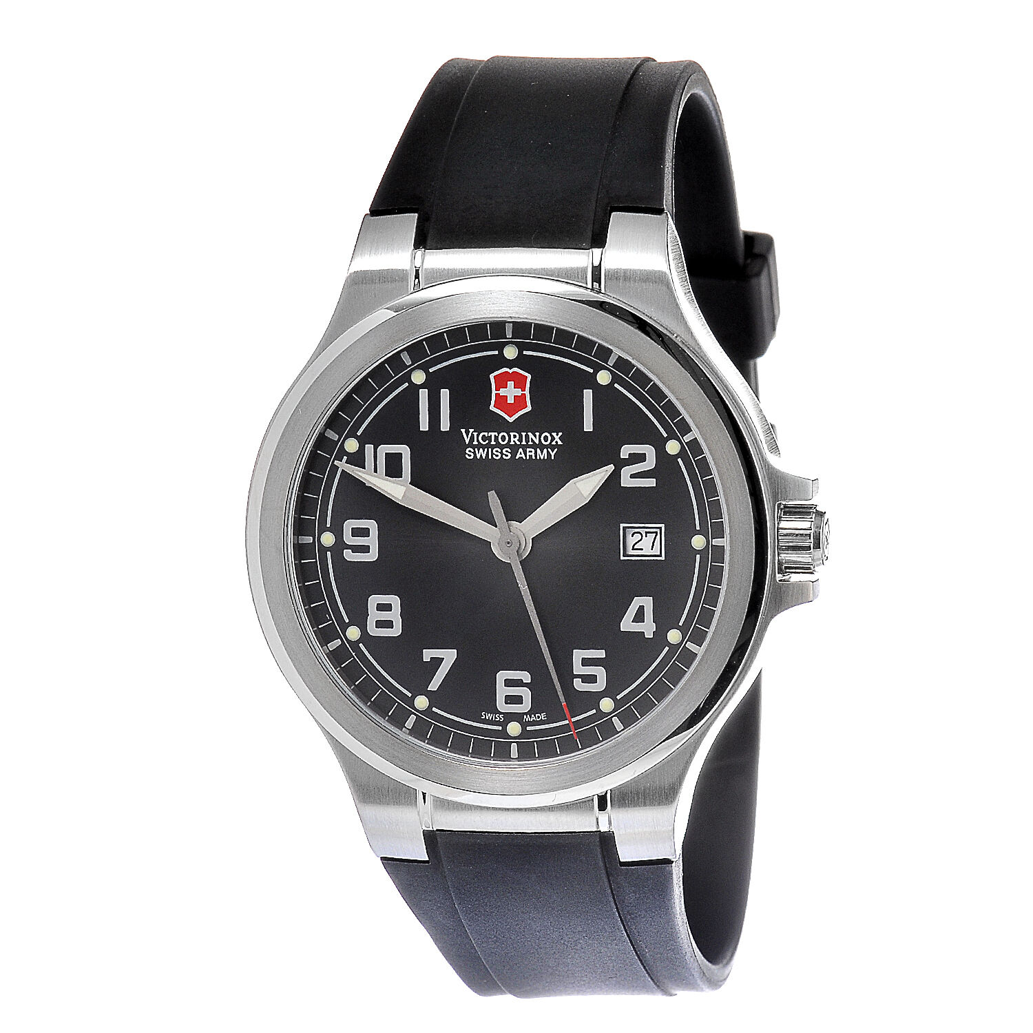 Victorinox Swiss Army Peak Ii Black Dial Silicone Band Men