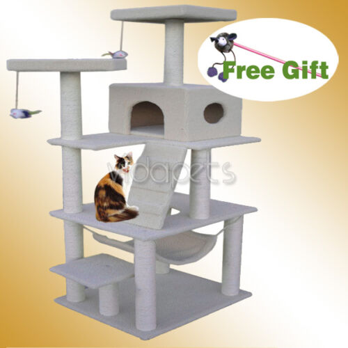 "Vidapets 72"" Natural white Cat Tree Play House Condo Scratcher Post Furniture in Pet Supplies, Cat Supplies, Furniture & Scratchers 