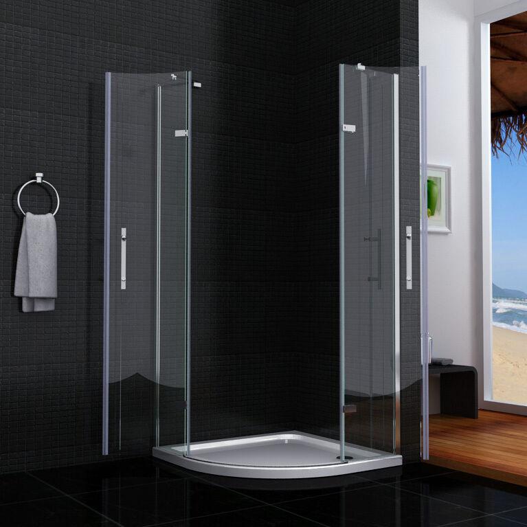 viertelkreis duschkabine duschabrennung duscht r runddusche dusche faltt r hqx ebay. Black Bedroom Furniture Sets. Home Design Ideas