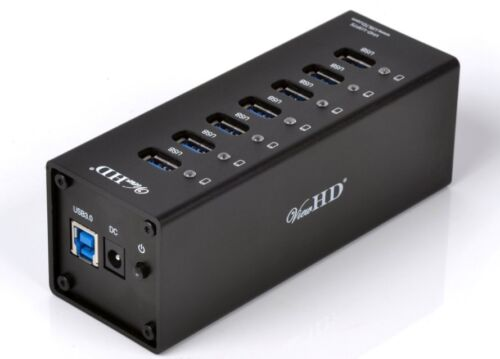 ViewHD Professional USB 3.0 7 Port Hub + 12V 4A Power Adapter Full Metal Case B in Computers/Tablets & Networking, Cables & Connectors, USB Cables, Hubs & Adapters | eBay