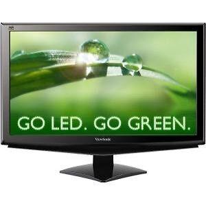 ViewSonic VA2448M 24 Widescreen LED LCD Monitor, built in Speakers
