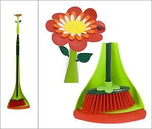 vigar handfeger kehrblech mit stiel kehrgarnitur langstiel flower power ebay. Black Bedroom Furniture Sets. Home Design Ideas
