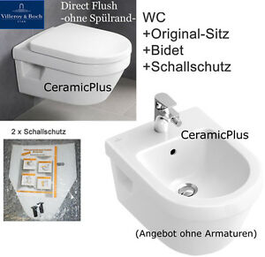 villeroy boch omnia bidet wand wc ohne sp lrand sp lrandlos directflush ebay. Black Bedroom Furniture Sets. Home Design Ideas
