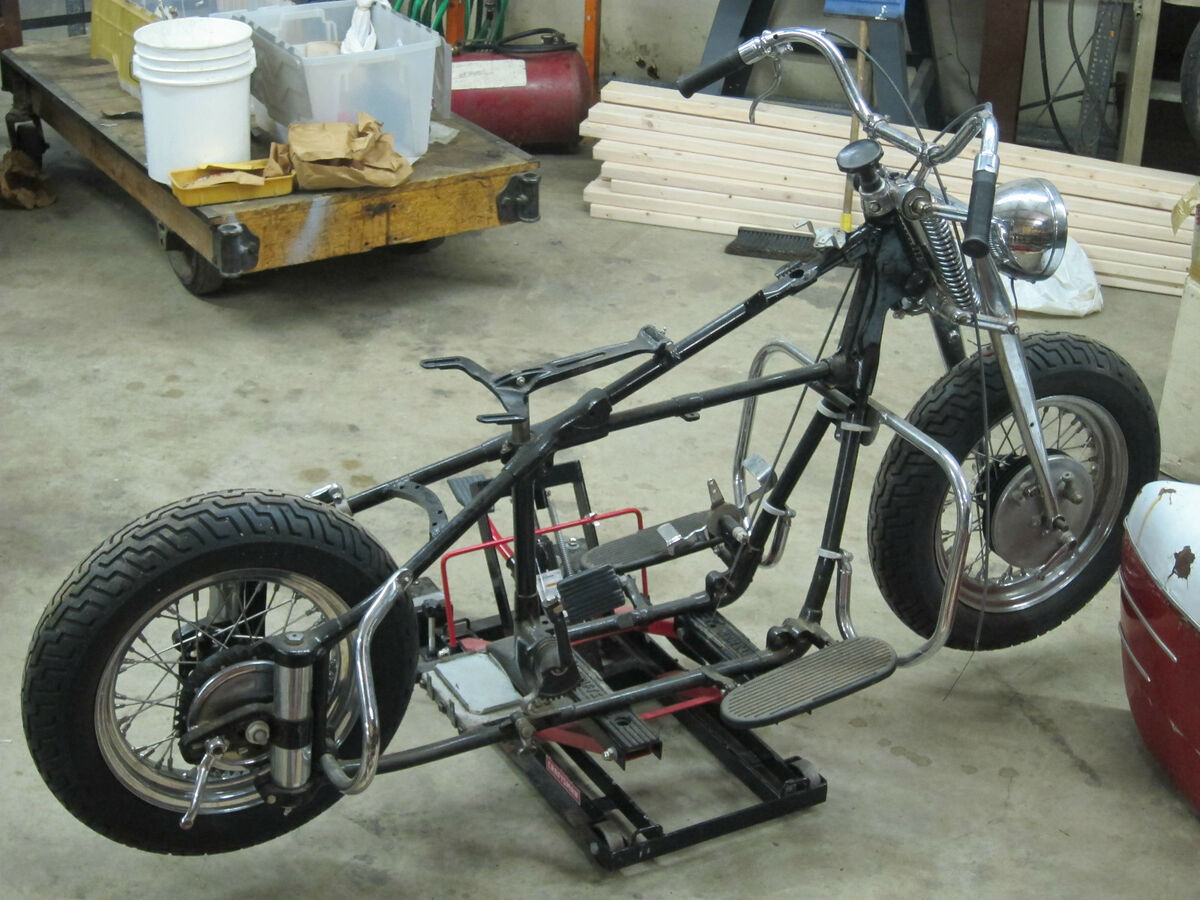 Vintage 1948 Indian Chief Motorcycle Parts Project Sidecar