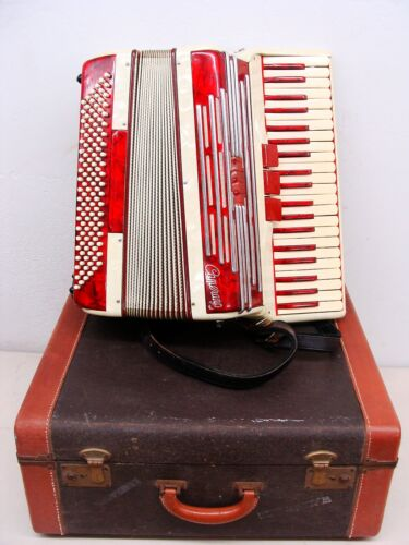Vintage 1963 Italian Made Camerano Accordion in Original Case 3 shifts 120 bass in Musical Instruments & Gear, Accordion & Concertina | eBay