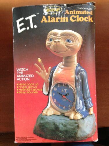 Vintage 1982 E.T. Alarm Clock In Original Box in Collectibles, Clocks, Vintage (1930-69) | eBay