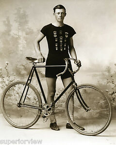 vintage bicycle racer bike racing clothing 1890 ishpeming