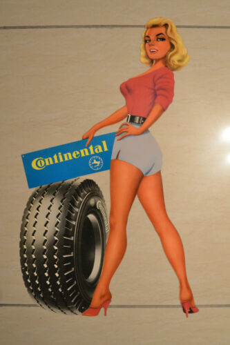 Vintage CONTINENTAL Advertising Tin Sign (1950s) in Collectibles, Advertising, Merchandise & Memorabilia | eBay