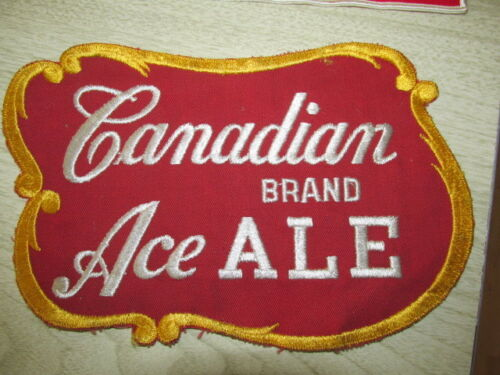 "Vintage Canadian Ace Beer / Jacket Patch Unused 10"" x 6"" Chicago IL in Collectibles, Breweriana, Beer, Other 