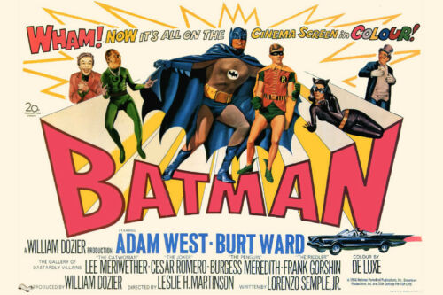 Vintage Classic Movie Poster Print BATMAN with Adam West in Entertainment Memorabilia, Movie Memorabilia, Other | eBay