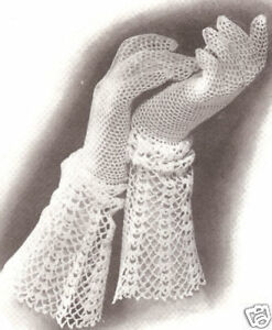 Vintage crochet lace gloves - COPD and So Much More