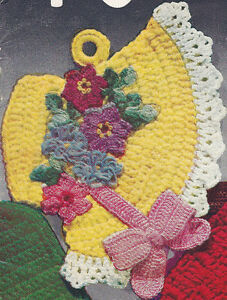 Free Crochet Easter Dishes, Easter Bonnet Pattern -