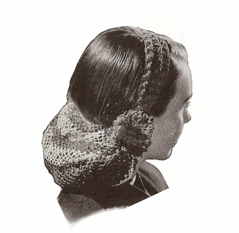 Crochet Hair Net Pattern : 1940s Snood Hair Net Style - DopePicz