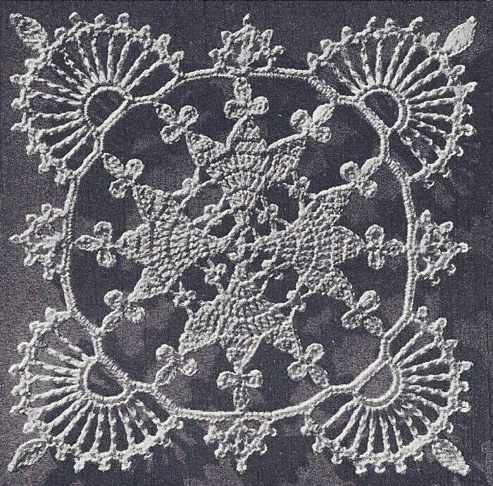 Vintage Crochet Pattern Lace Valentine Motif Bedspread