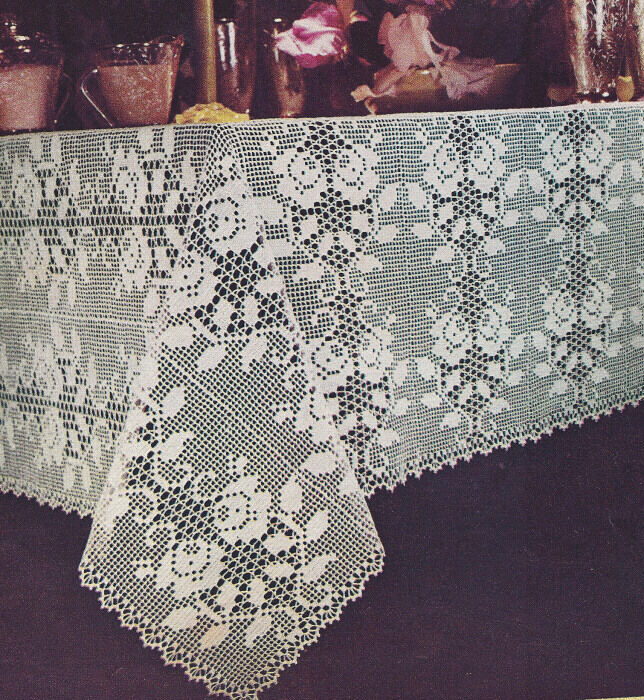 Free Crochet Tablecloth Patterns : Blossoms Tablecloth - Free Patterns - Download Free Patterns