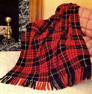 AFGHAN crochet pattern PLAID patterns | eBay