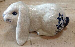Vintage Dedham Pottery The Potting Shed Bunny Rabbit