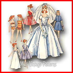 Wedding Dress Patterns on Vintage Doll Wedding Dress Pattern Tammy Barbie   Ebay