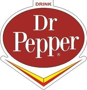 Vintage Dr Pepper V sticker decal 3x3