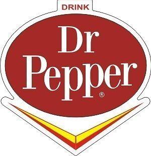 Vintage Dr Pepper V sticker decal 3x3