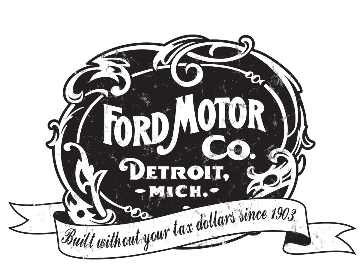 ford logo built without your tax dollars tshirt detroit