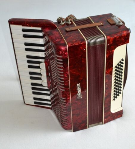 Vintage German Accordion Weltmeister 48 bass with case in Musical Instruments & Gear, Accordion & Concertina | eBay