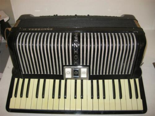 Vintage Hohner Black Contessa II Accordion with Case Outstanding Condition NICE in Musical Instruments & Gear, Accordion & Concertina | eBay