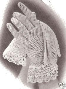 Crochet Lace Fingerless Mitts Crochet Pattern | Red Heart