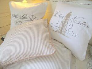 vintage kissen bezug dorell wei sand grau versch design shabby chic landhaus ebay. Black Bedroom Furniture Sets. Home Design Ideas