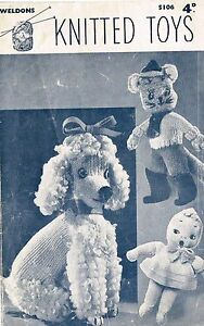 Vintage-Knitted-Toys-Poodle-Puss-in-Boots-and-doll-knitting-pattern