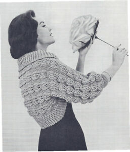 Free Knitting Pattern - Mistake Lace Shrug from the Lace ponchos