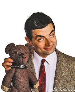 Vintage Knitting Pattern For Mr. Bean's Toy Teddy Bear | eBay