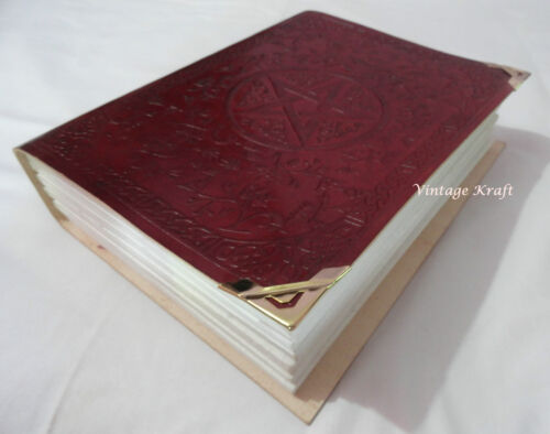 "Vintage Leather Blank Journal 9.5x7"" Handmade Paper Celtic Print Large Diary in Books, Accessories, Blank Diaries & Journals 