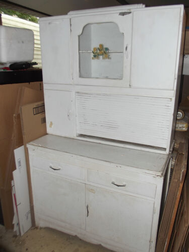 Vintage Marsh Hoosier Kitchen Cabinet with Flour Bin and Roll Top in Antiques, Furniture, Cabinets & Cupboards | eBay