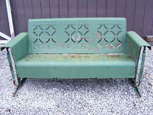 Vintage Metal Patio Porch Glider Furniture Retro 1960 039