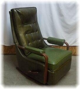 Vintage mid century danish modern la z boy rocker recliner for Danish modern la