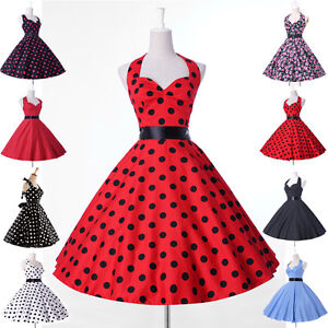 vintage mode damen pin up petticoat kleid 50er 60er neu s m l xl ebay. Black Bedroom Furniture Sets. Home Design Ideas