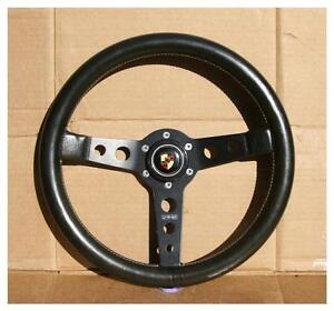 vintage momo prototipo 350mm steering wheel porsche rsr 916 917 912 904 906 911 ebay. Black Bedroom Furniture Sets. Home Design Ideas