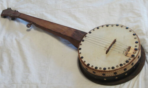 Vintage One-of-a-Kind Original Folk Art Handmade 5 String Banjo- Unique Sound in Musical Instruments & Gear, String, Banjo | eBay