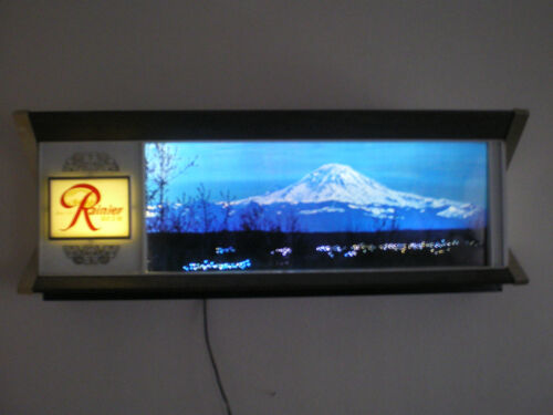 Vintage Rare 1960's Rainier Beer Motion Lighted Tavern Sign. EXCELLENT+++++ in Collectibles, Breweriana, Beer, Signs, Tins | eBay